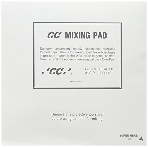 GC America 159112 Mixing Pads, 6'' x 6'' (Pack of 12) by GC America