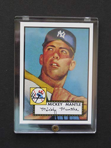 2020 Topps 1952 Reprints - Mickey Mantle 1952 Topps Archives Rookie Reprint Card (In a 1/4