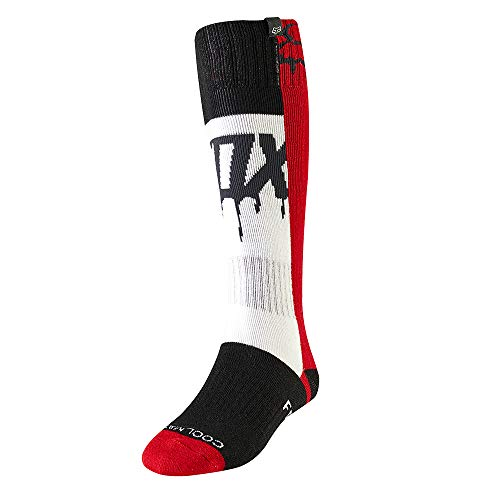 2019 Fox Racing Womens Mata Drip MX Socks-Flame ()