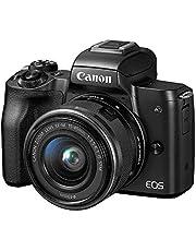 Canon EOS M50 Mirrorless Camera Kit w/EF-M15-45mm and 4K Video (Black) (Renewed)