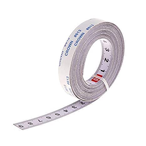 multi-directivit/é d/écoratifs ruban /à mesurer M/ètre /à ruban de suivi de scie /à onglet support autocollant R/ègle m/étrique en acier 1//2//3//5/m m Bhty235 Bhty235