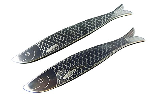 Shang Zun 2 pcs Metal Collar Stays Stainless Steel Fish Design Collar Stiffeners 2.5'' by Shang Zun