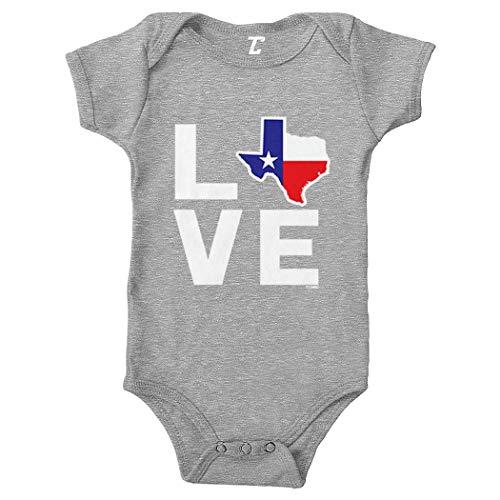 - Love Texas - Texan Pride Strong Bodysuit (Light Gray, 6 Months)