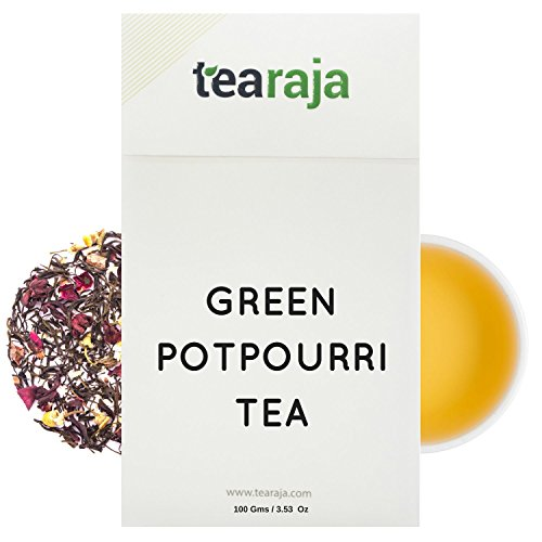 Green Potpourri Tea 3.5 Oz Makes 50 Cups, A Mixture of HEALTHY Ingredients to make you better. Enjoy a SPA in every cup of Tea your drink.