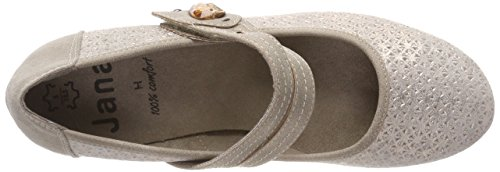 Metal Donna Jana Beige con Taupe Scarpe Tacco 24332 waf6q1