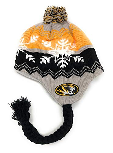 NCAA Officially Licensesd University of Missouri Mizzou Tigers YOUTH Coldwave Pom Tassel Beanie
