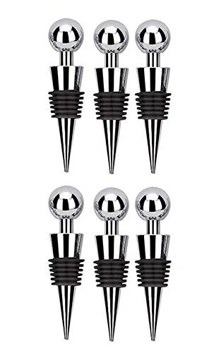 Txibi Wine Bottle Stoppers 6PCS, Party Club Bar Stainless Steel Bottle Tool Set of 6