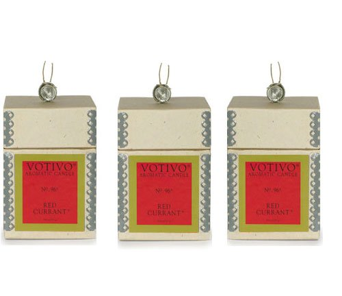 Votivo Red Currant Aromatic Candle - 3 Pack by Votivo