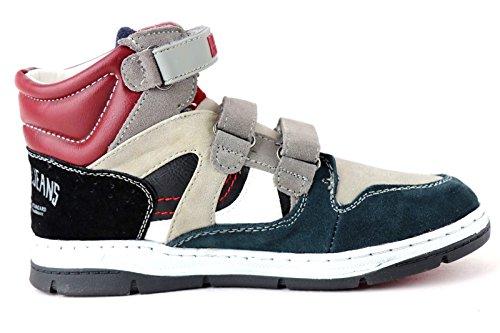 REPLAY WELLS High-Top Sneaker Boy Grey-Red *** NICE LOOK *** BEST PRICE ***