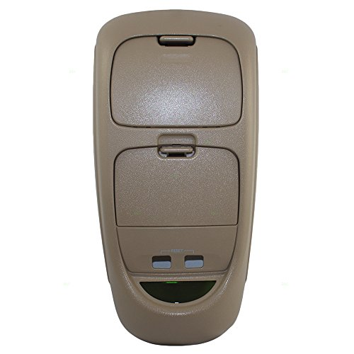 Overhead Roof Ceiling Console Parchment Tan Replacement for Ford Super Duty Pickup Truck 2C3Z-25519Z70-AAB