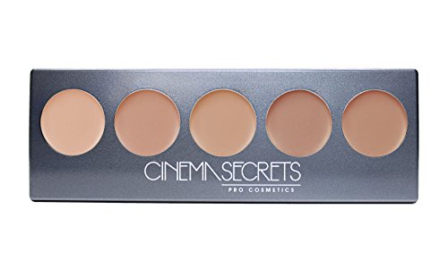 Ultimate Foundation 5-in-1 PRO Palette, 500a Series BEIGE-PINK UNDERTONES (LIGHT TO MEDIUM) (Cinema Secrets Makeup)