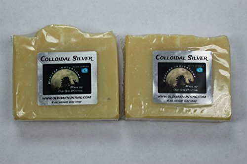Colloidal Silver Scent Free bar soap 4oz bar 2 pack