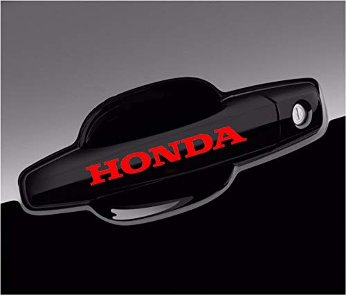 Honda Decal Wheels Door Handle Logo Vinyl Stickers Graphics - 8pcs Set (Honda Decal Set)