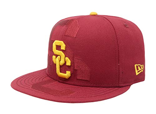9ed2ac3a24d11 Trojans New Era 9fifty Hat USC College Logo Spill Cardinal Headwear Cap