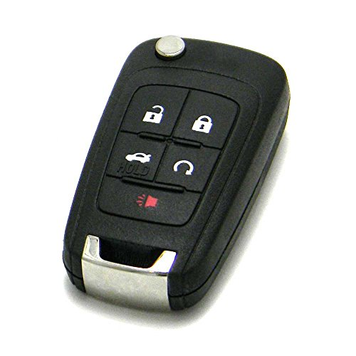 OEM GM Chevrolet Flip Key Keyless Entry Remote Fob (FCC ID: OHT01060512/P/N: 13504199, 13500221) by General Motors