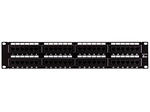 Monoprice 48-port Cat6 Patch Panel, 110 Type (568A/B Compatible)