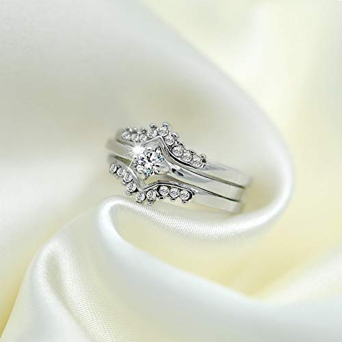 Rhame Infinity 925 Silver Women Wedding Rings White Sapphire Fashion Jewelry Size 6-10 | Model RNG - 8788 | 8