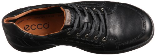 ECCO Remote Leather Lace Up - Zapatos de cuero hombre Negro (BLACK1001)