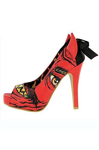 Price comparison product image Iron Fist Women's Shoes - Soul Stealer Red Devil Platform High Heels (5)
