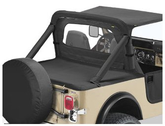 Bestop 90003-15 Black Denim Duster Deck Cover for 1980-1991 CJ7//Wrangler with Supertop Bows Folded Down