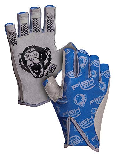 Fish Monkey Pro 365 Guide Glove, Royal Blue,  L (Best Saltwater Fishing Gloves)