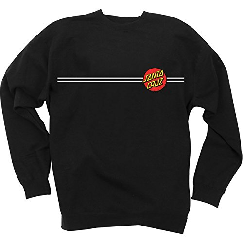 Santa Cruz Mens Classic Dot Crew Neck Sweater Sweatshirt Large (Dot Crew Sweatshirt)