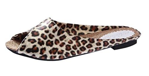 Cattior Slide Sandals Leopard Womens Cattior Ladies Slippers Slippers Womens Black Ladies Leopard wIaZWS