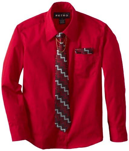 Retro Boys 8-20 Broadcloth Shirt Tie Sets