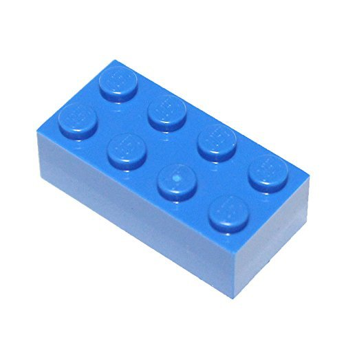 LEGO Parts and Pieces: Blue (Bright Blue) 2x4 Brick x50 (Legos Parts)