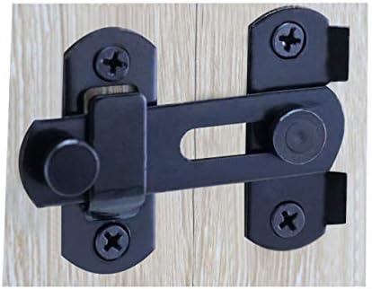 Puerta corredera de granero de acero inoxidable con cerradura antigua, puerta de clóset, color negro: Amazon.es: Bricolaje y herramientas