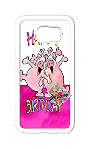 [case forcolor]:Happy birthday Hard Case for samsung s6.