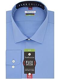 Big and Tall Mens Dress Shirts Big Fit Flex Solid Spread...
