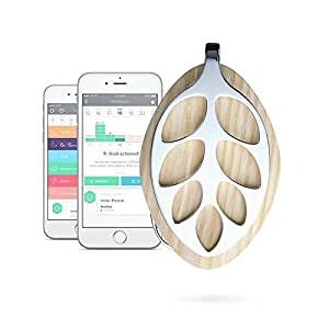 Bellabeat Leaf Nature Health Tracker/Smart Jewelry, Silver Edition