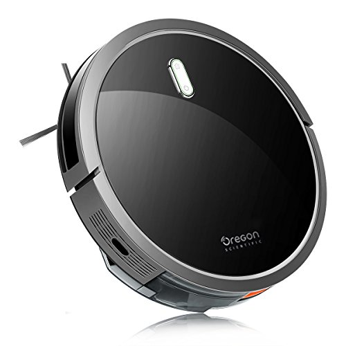 Robot Vacuum Cleaner, Oregon Scientific 1400pa Powerful Suction Robotic Vacuum with Easy Scheduling Remote, Cleans Hard Surface Floor & Medium Carpet, Filter for Pet Fur, Automatic Self-Charging