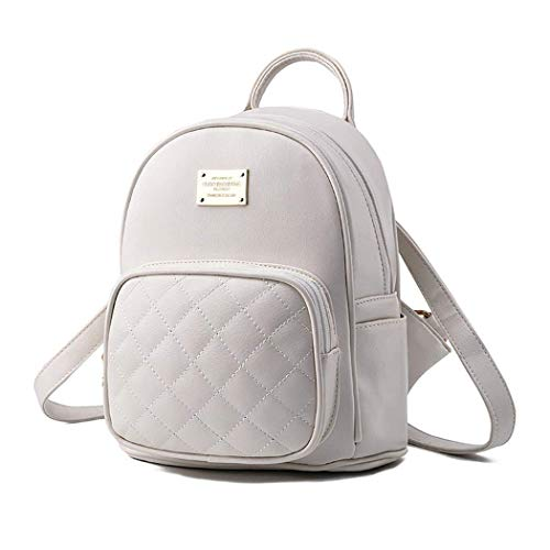 Bolsos Cuero Eeayyygch Mujer white color De Off Hombro Negro Pu Para Bolsa Escolar Mochila Laptop 6nzPrnt