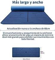 YAWHO Colchoneta de Yoga Esterilla Yoga Material medioambiental TPE,Modelo:183cmx66cm Espesor:6milímetros,Tapete de Deporte Grande y ...