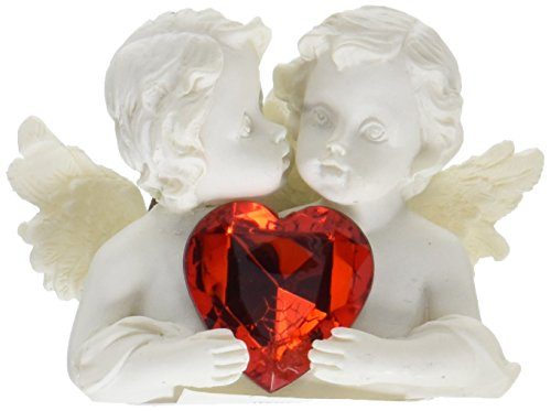 - Furniture Creations Two In Love Cherub Angel Red Crystal Heart Figurine