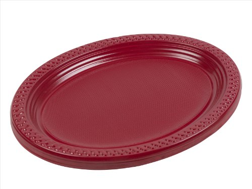Panorama Plastic Oval Platters 12 Inch 5 Colours (Red, 10)