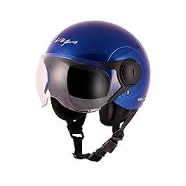 Vega Open Face Atom Blue Helmet for Women (M)
