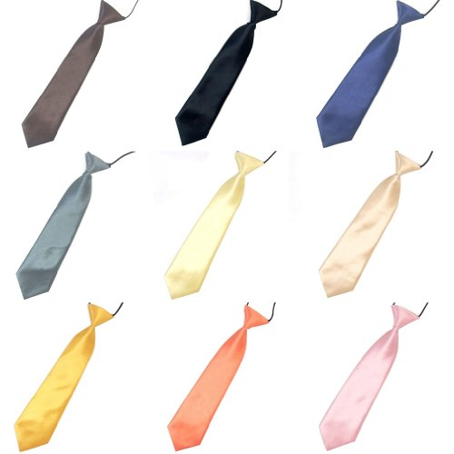 Juanshi Kid's Casual Style Polyester Arrow Solid Necktie