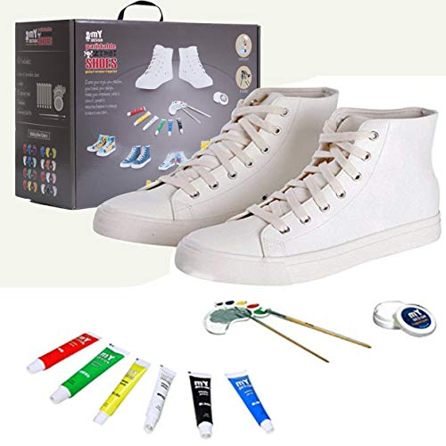 Design Your Own Shoes Boys (mY DESIGN DIY Painting Shoes for Kids with 6 Painting Colors kit , Made in)