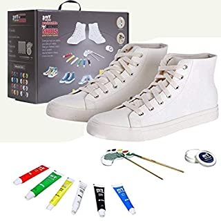 mY DESIGN DIY Painting Shoes for Adult 6 Matching Painting Colors - Made in USA (9 M / 10.5 W)