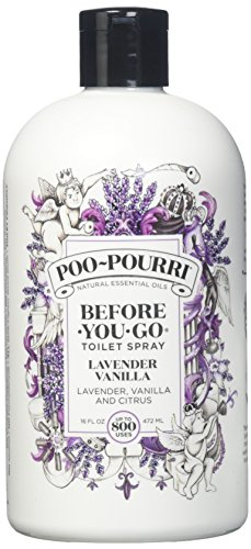 Fragrant Spray Kitchen (Poo-Pourri Lavender Vanilla Scent Refill Bottle 16 OZ (1))