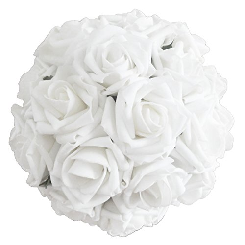 - Lily Garden 2 Dozen Rose Bridal Wedding Bouquets Artificial Flower DIY (Pure White)