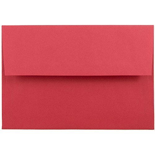 - JAM PAPER A8 Colored Invitation Envelopes - 5 1/2 x 8 1/8 - Red Recycled - 50/Pack