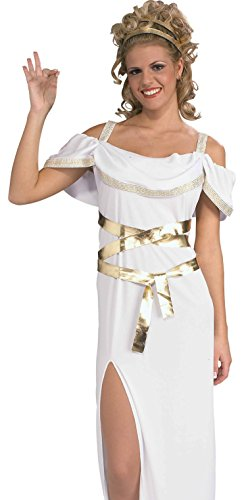 Forum Novelties Women's Ancient Aristocrat Grecian Goddess Costume, White, Standard (Greek Goddess Sandals)