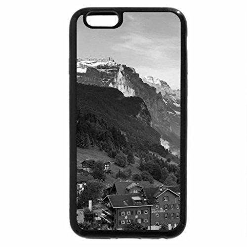iPhone 6S Plus Case, iPhone 6 Plus Case (Black & White) - Valley of flowers