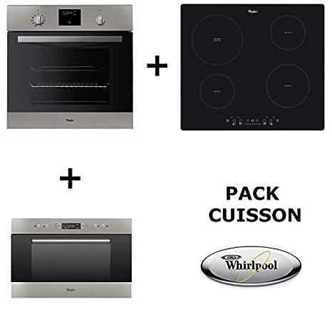 Whirlpool - Set de cocina:Horno pirolítico + Placa de cocción a ...