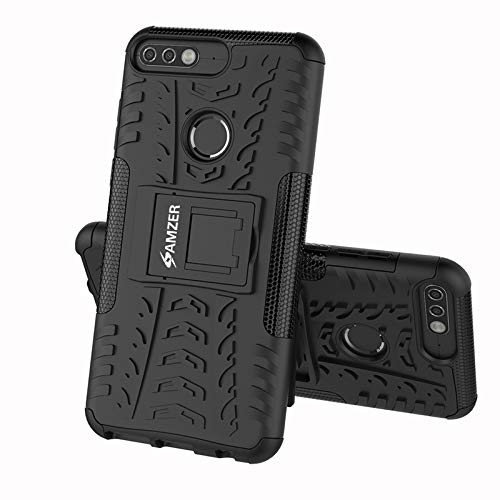 AMZER Hybrid Dual Layer Warrior Case for Huawei Honor 7C - Black