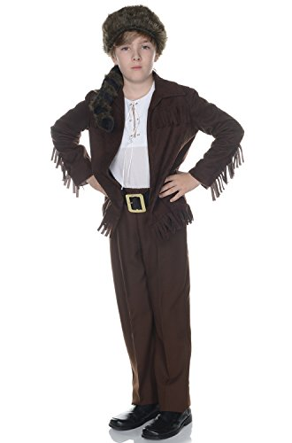 Children's Frontier Costume - Dark Brown, -